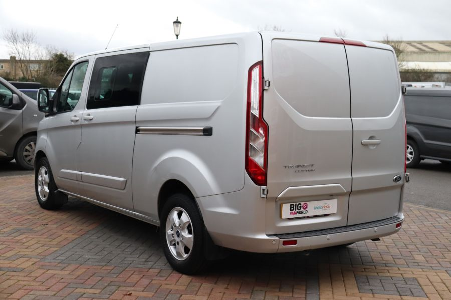 FORD TRANSIT CUSTOM 310 TDCI 130 L2H1 LIMITED DOUBLE CAB 6 SEAT CREW VAN  LWB LOW ROOF FWD  - 9968 - 7