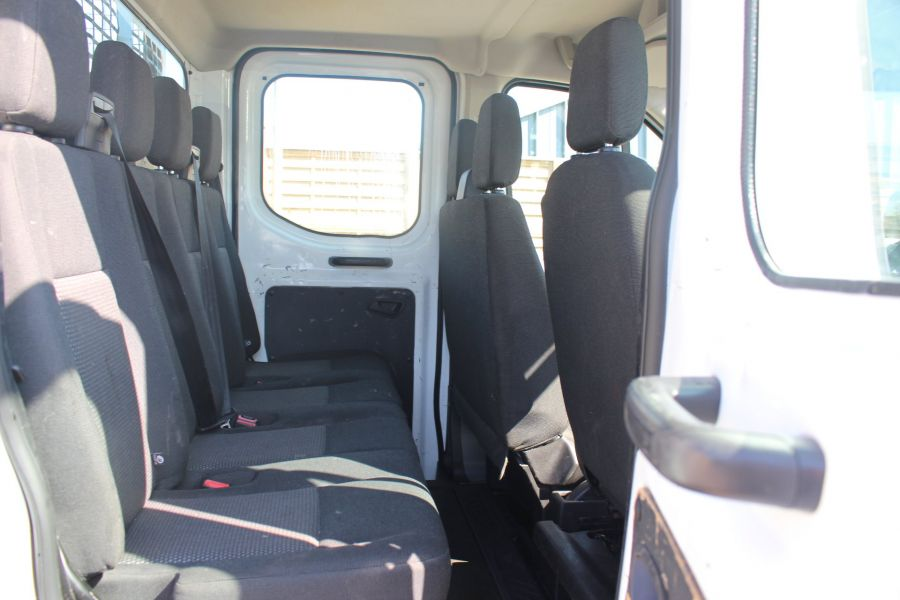 FORD TRANSIT 350 TDCI 125 L3 LWB 7 SEAT DOUBLE CAB 'ONE STOP' ALLOY TIPPER WITH STEEL CAGE DRW RWD - 9150 - 26