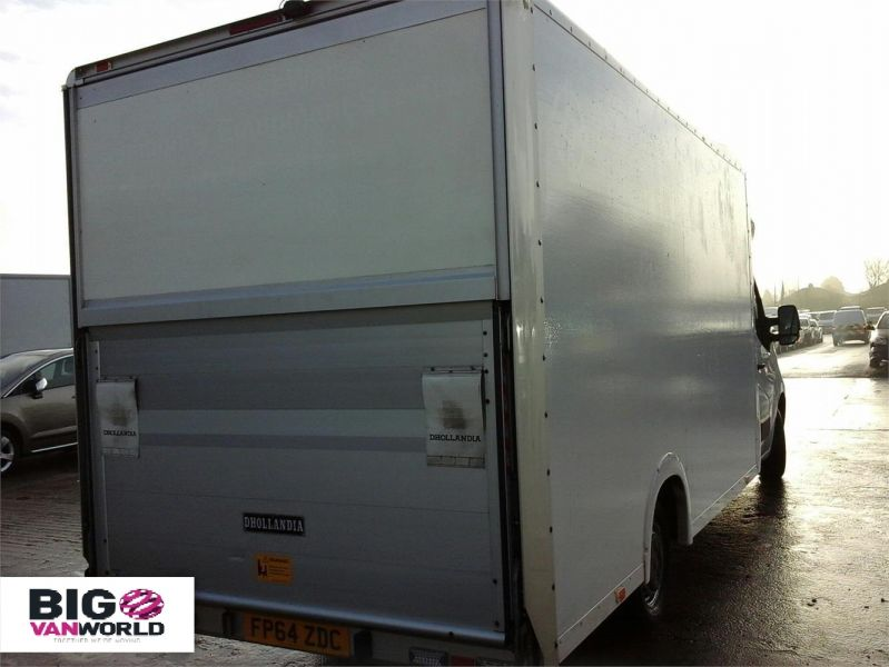 VAUXHALL MOVANO F3500 CDTI 125 L3 H1 LOW LOADER PLATFORM CAB WITH FULL CLOSURE TAIL LIFT - 7299 - 2