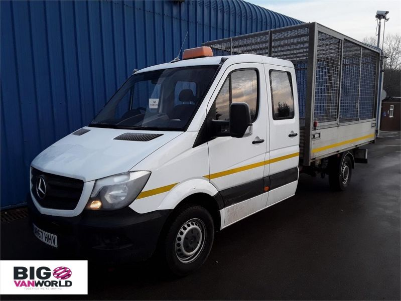 MERCEDES SPRINTER 314CDI LWB DOUBLE CAB 6 SEAT CAGED ALLOY TIPPER - 9288 - 5
