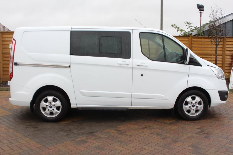 FORD TRANSIT CUSTOM 290 TDCI 155 L1 H1 LIMITED DOUBLE CAB 6 SEAT CREW VAN SWB LOW ROOF FWD - 6940 - 4