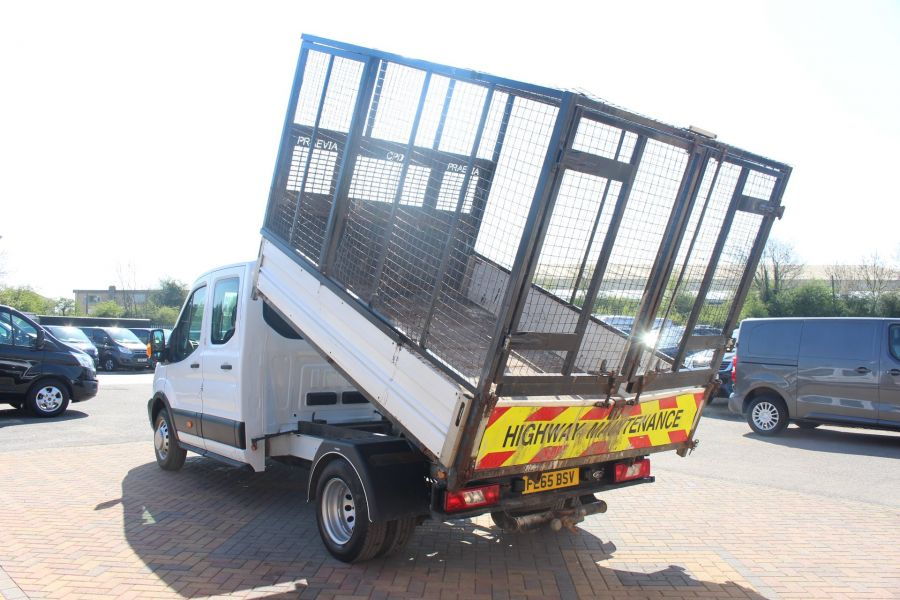 FORD TRANSIT 350 TDCI 125 L3 LWB 7 SEAT DOUBLE CAB 'ONE STOP' ALLOY TIPPER WITH STEEL CAGE DRW RWD - 9150 - 7