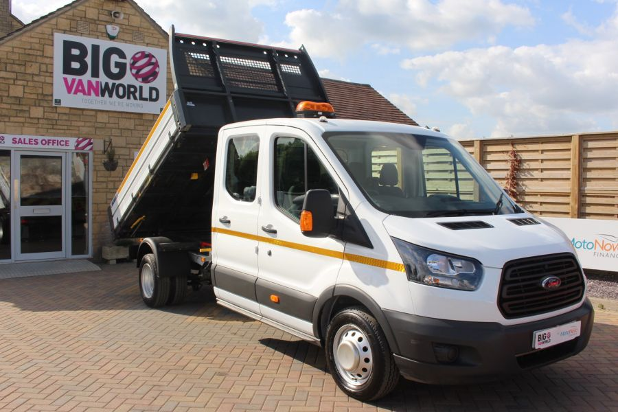 FORD TRANSIT 350 TDCI 130 L3 LWB 7 SEAT DOUBLE CAB 'ONE STOP' ALLOY TIPPER DRW RWD - 7634 - 3