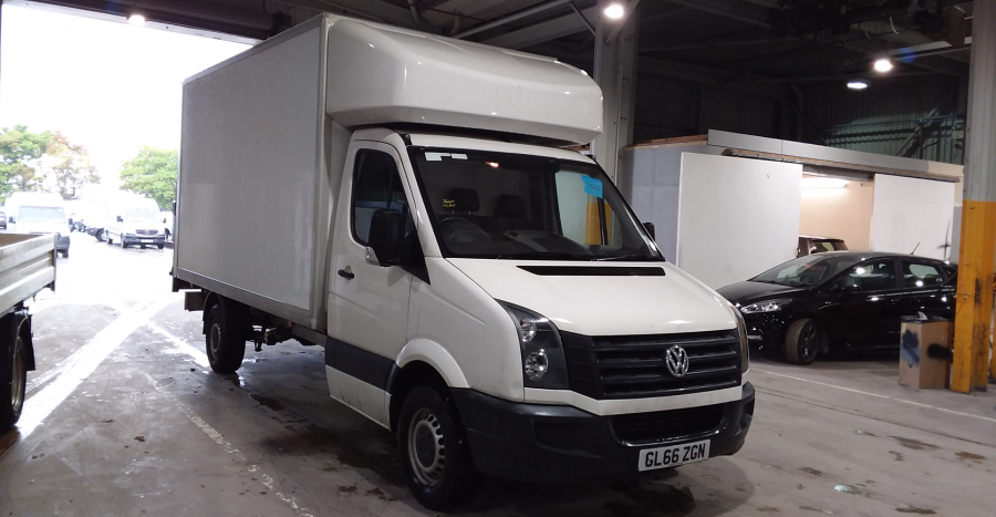 VOLKSWAGEN CRAFTER CR35 TDI 136 STARTLINE LWB 'ONE STOP' LUTON WITH TAIL LIFT - 10847 - 1