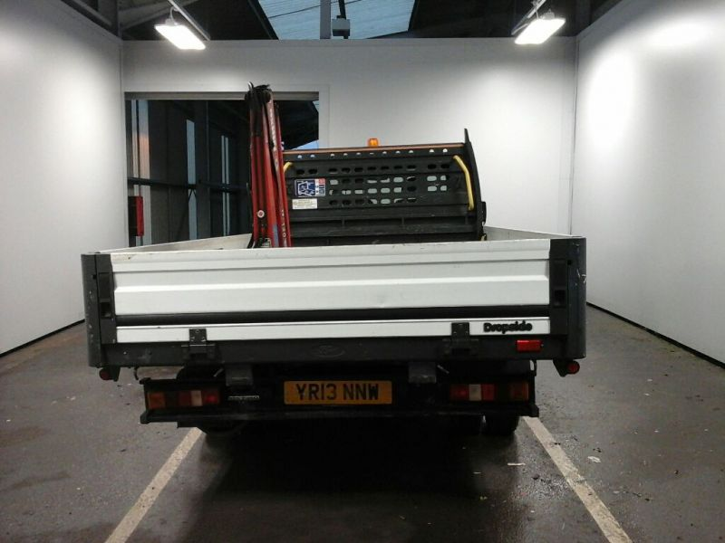 FORD TRANSIT 350EF TDCI 125 LWB 'ONE STOP' ALLOY DROPSIDE WITH SWING LIFT CRANE DRW RWD - 10299 - 3
