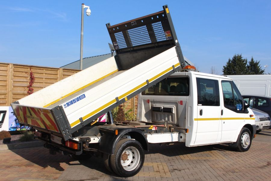 FORD TRANSIT 350 TDCI 155 LWB 6 SEAT DOUBLE CAB 'ONE STOP' ALLOY TIPPER DRW RWD - 7337 - 5