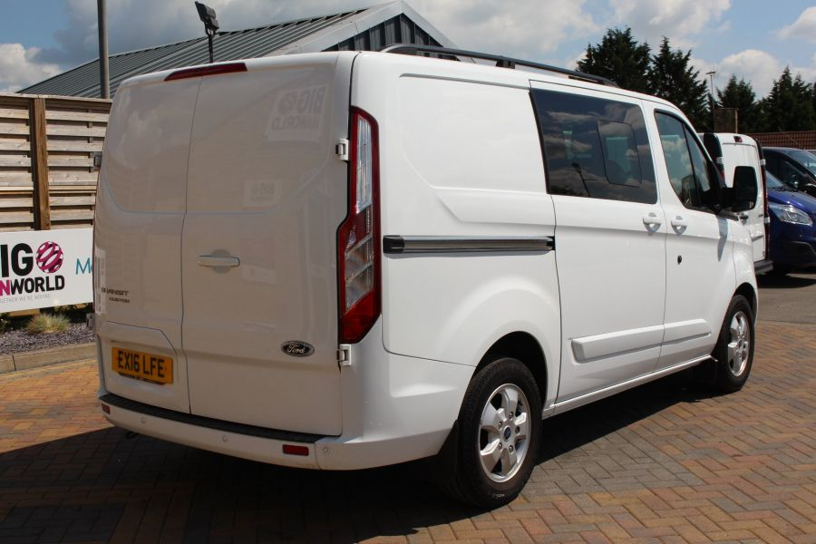 FORD TRANSIT CUSTOM 290 TDCI 125 L1 H1 LIMITED SWB DOUBLE CAB 6 SEAT CREW VAN FWD - 9206 - 5