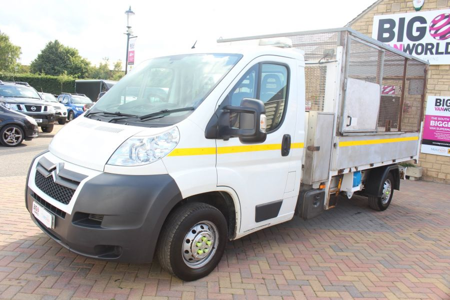 CITROEN RELAY 35 HDI 130 L3 LWB ALLOY TIPPER WITH CAGED - 8122 - 17
