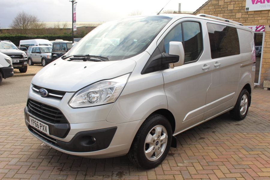 FORD TRANSIT CUSTOM 290 TDCI 170 L1 H1 LIMITED DOUBLE CAB 6 SEAT CREW VAN SWB LOW ROOF FWD  - 8973 - 8