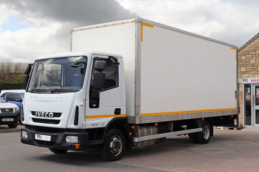 IVECO EUROCARGO  75E16S 4X2 GRP BOX WITH TAIL LIFT  (13925) - 12206 - 12