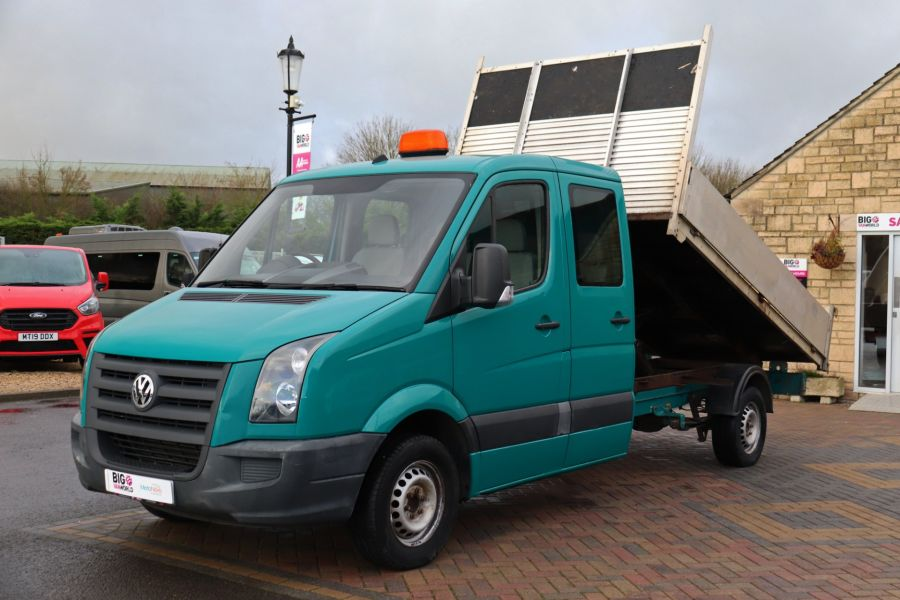 VOLKSWAGEN CRAFTER CR35 TDI 109 LWB 7 SEAT DOUBLE CAB ALLOY TIPPER - 9967 - 10