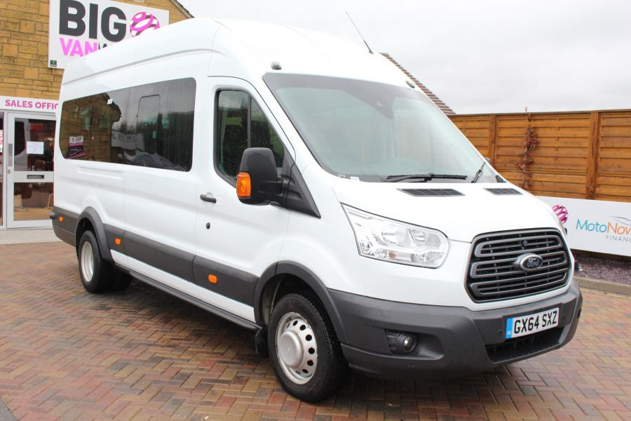 FORD TRANSIT 460 TDCI 125 L4 H3 TREND 17 SEAT BUS HIGH ROOF DRW RWD - 8462 - 1