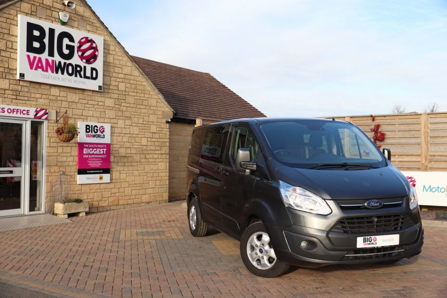 FORD TRANSIT CUSTOM 290 TDCI 130 L1H1 LIMITED DOUBLE CAB 6 SEAT CREW VAN SWB LOW ROOF - 10123 - 1