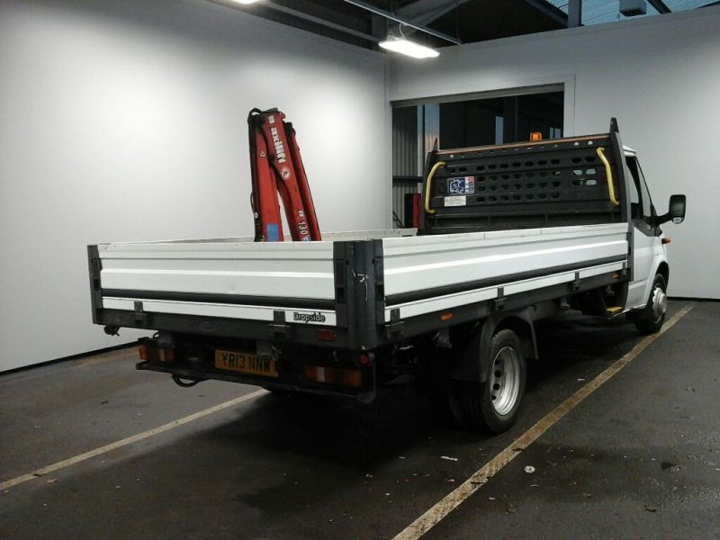FORD TRANSIT 350EF TDCI 125 LWB 'ONE STOP' ALLOY DROPSIDE WITH SWING LIFT CRANE DRW RWD - 10299 - 2