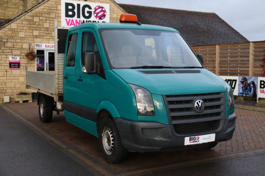 VOLKSWAGEN CRAFTER CR35 TDI 109 LWB 7 SEAT DOUBLE CAB ALLOY TIPPER - 9967 - 14