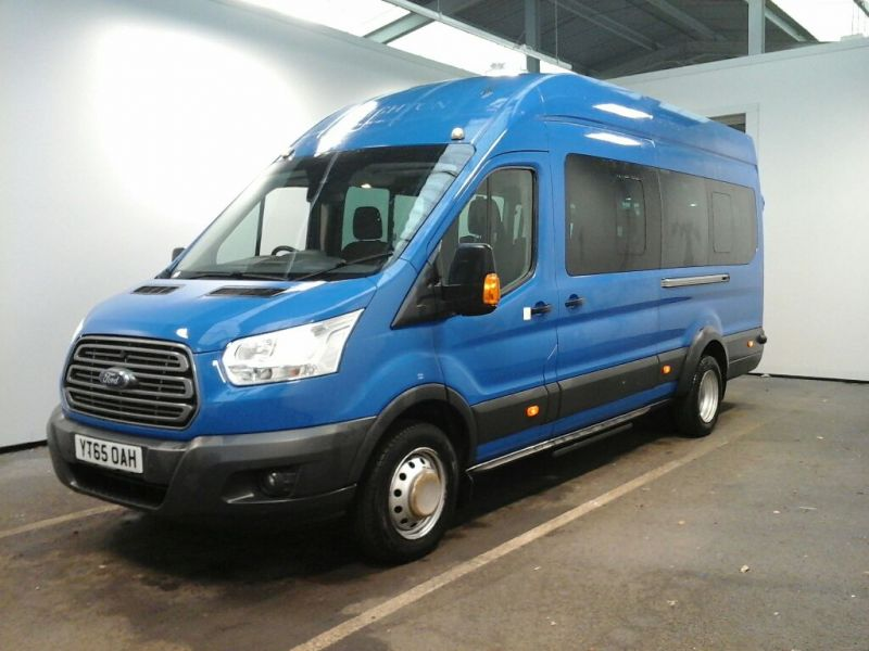 FORD TRANSIT 460 TDCI 125 L4 H3 TREND 17 SEAT BUS HIGH ROOF DRW RWD - 8680 - 1