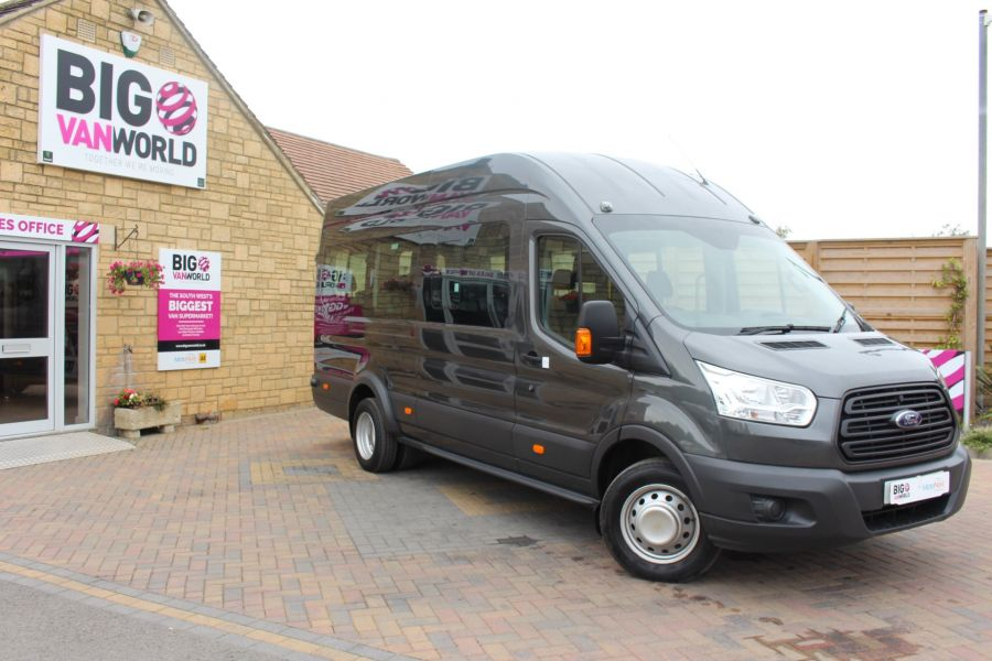 FORD TRANSIT 460 TDCI 155 L4 H3 17 SEAT BUS HIGH ROOF DRW RWD - 8132 - 2