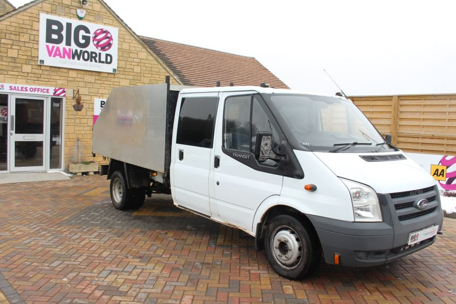 FORD TRANSIT 350 TDCI 110 LWB DOUBLE CAB HIGH SIDED ARBORIST TIPPER - 7454 - 9