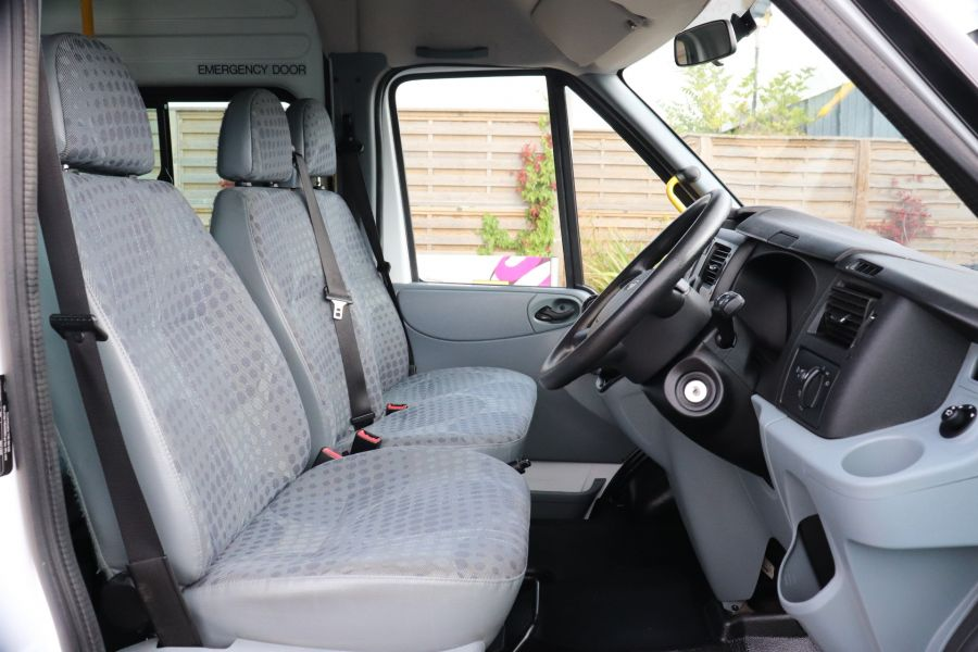 FORD TRANSIT 430 TDCI 135 EL LWB 17 SEAT BUS WITH WHEELCHAIR ACCESS HIGH ROOF DRW RWD - 9665 - 12