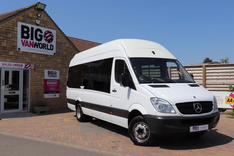 MERCEDES SPRINTER 513 CDI 129 XLWB EXTRA HIGH ROOF 15 SEAT BUS WITH WHEELCHAIR ACCESS - 9801 - 1