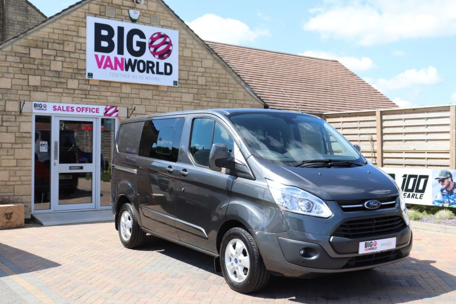 FORD TRANSIT CUSTOM 290 TDCI 125 L1H1 LIMITED DOUBLE CAB 6 SEAT CREW VAN SWB LOW ROOF FWD - 9474 - 2