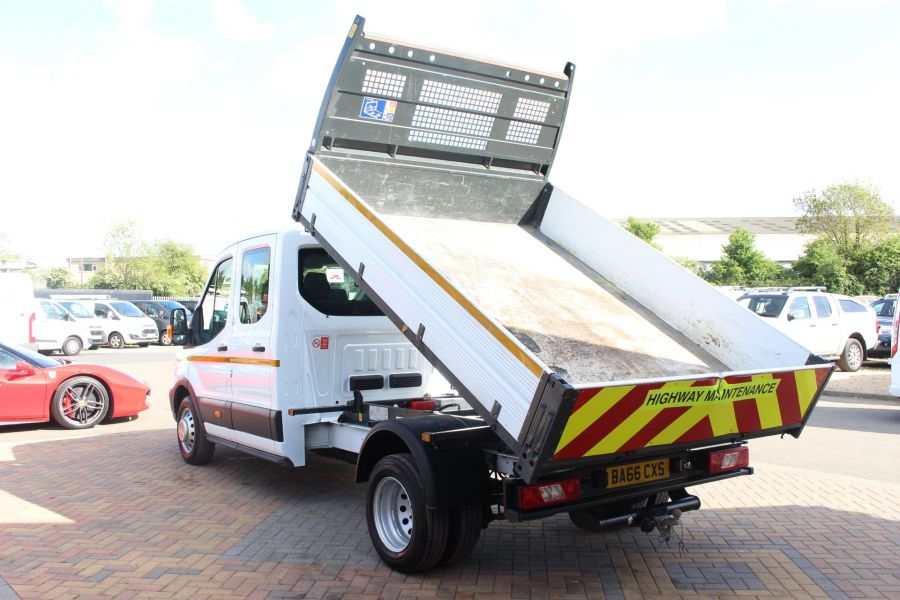 FORD TRANSIT 350 TDCI 130 L3 LWB 7 SEAT DOUBLE CAB 'ONE STOP' ALLOY TIPPER DRW RWD - 7634 - 6