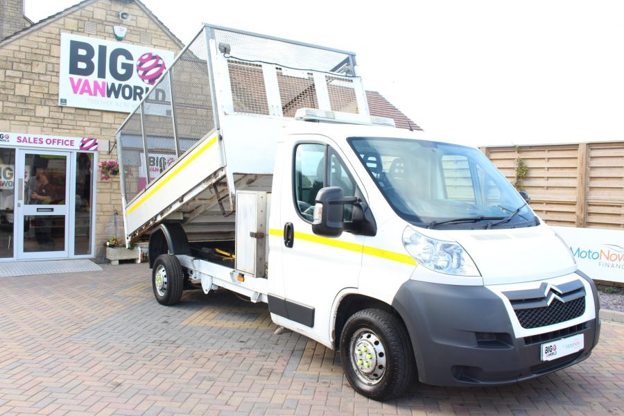 CITROEN RELAY 35 HDI 130 L3 LWB ALLOY TIPPER WITH CAGED - 8122 - 1