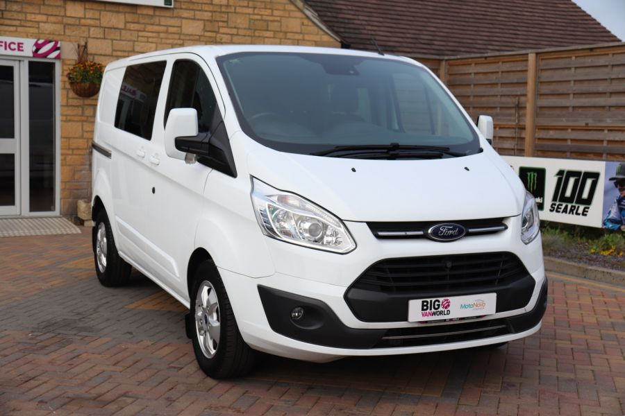 FORD TRANSIT CUSTOM 310 TDCI 130 L1H1 LIMITED DOUBLE CAB 6 SEAT CREW VAN SWB LOW ROOF FWD - 9964 - 3
