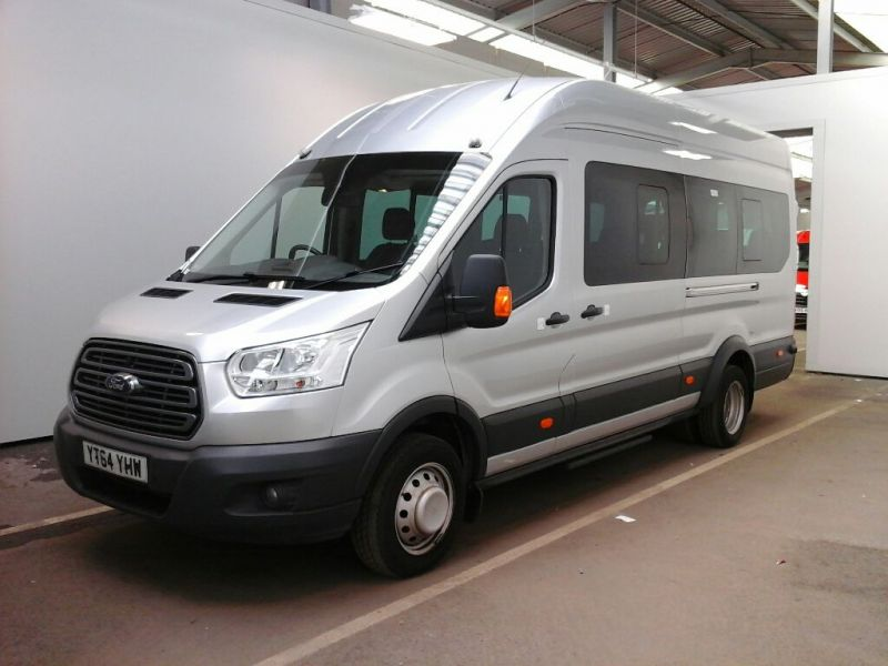 FORD TRANSIT 460 TDCI 155 L4H3 TREND 17 SEAT BUS HIGH ROOF DRW RWD - 9624 - 1