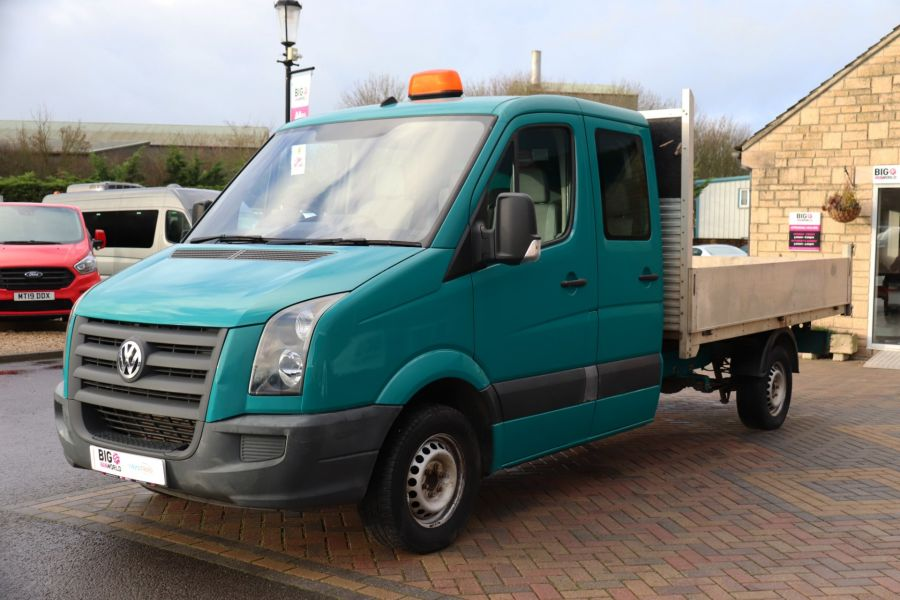VOLKSWAGEN CRAFTER CR35 TDI 109 LWB 7 SEAT DOUBLE CAB ALLOY TIPPER - 9967 - 20