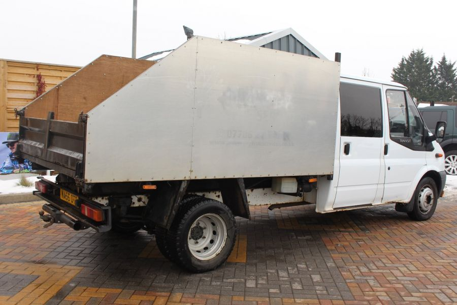 FORD TRANSIT 350 TDCI 110 LWB DOUBLE CAB HIGH SIDED ARBORIST TIPPER - 7454 - 12