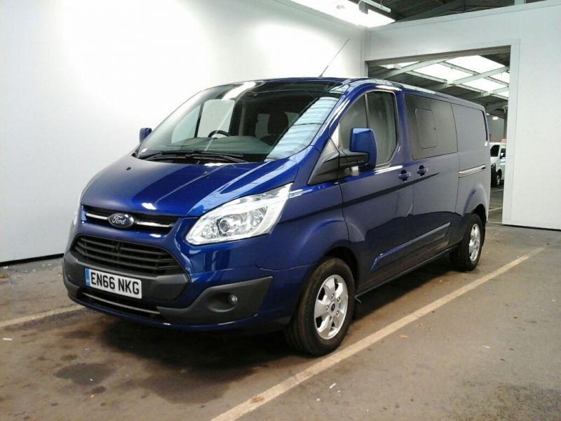 FORD TRANSIT CUSTOM 310 TDCI 130 L2 H1 LIMITED DOUBLE CAB 6 SEAT CREW VAN LWB LOW ROOF FWD - 8968 - 1