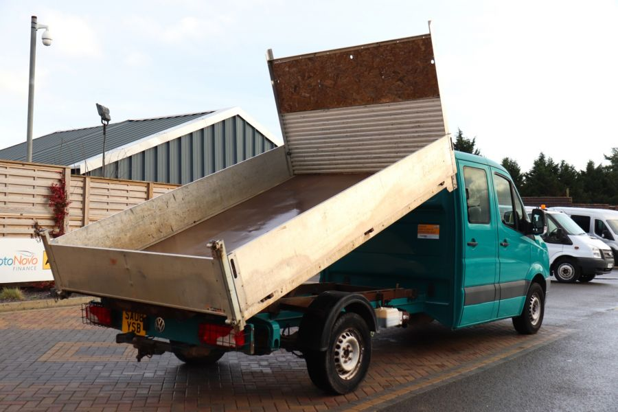 VOLKSWAGEN CRAFTER CR35 TDI 109 LWB 7 SEAT DOUBLE CAB ALLOY TIPPER - 9967 - 6
