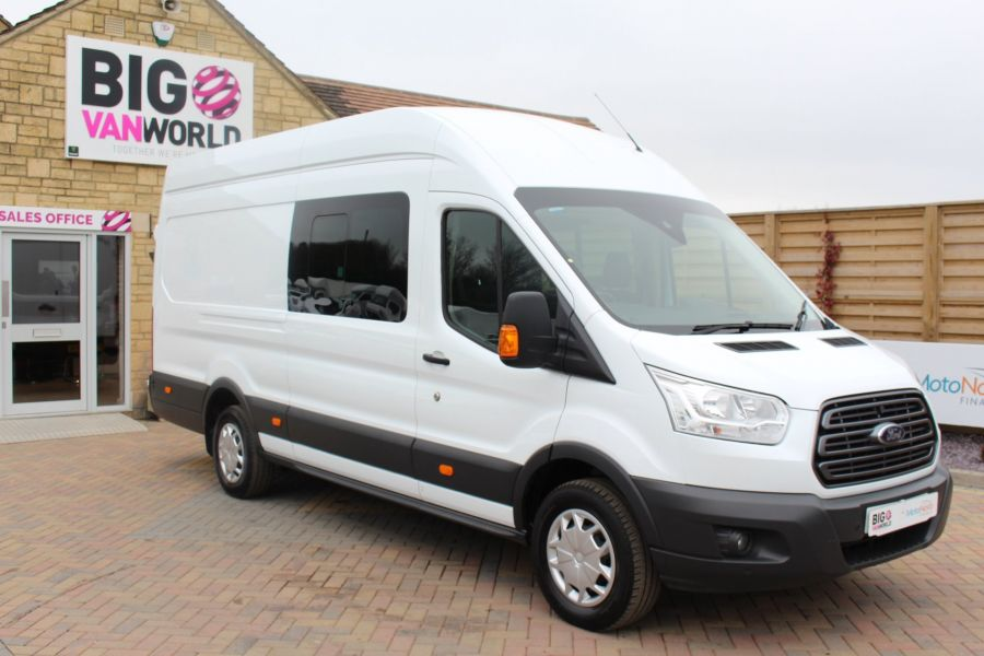 FORD TRANSIT 350 TDCI 155 L4 H3 TREND DOUBLE CAB 7 SEAT CREW VAN JUMBO HIGH ROOF  - 7472 - 3