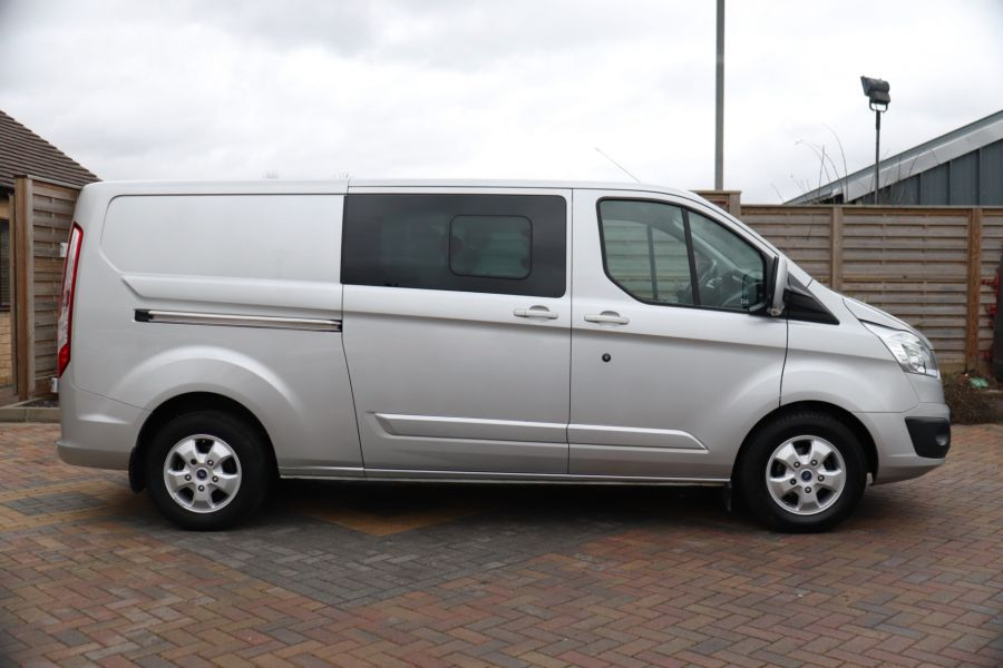 FORD TRANSIT CUSTOM 310 TDCI 130 L2H1 LIMITED DOUBLE CAB 6 SEAT CREW VAN  LWB LOW ROOF FWD  - 9968 - 4