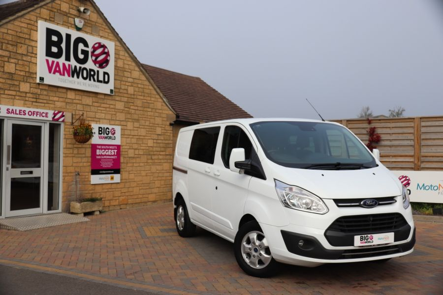 FORD TRANSIT CUSTOM 310 TDCI 130 L1H1 LIMITED DOUBLE CAB 6 SEAT CREW VAN SWB LOW ROOF FWD - 9964 - 1