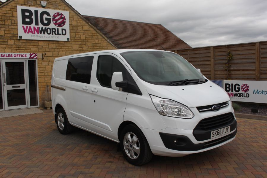 FORD TRANSIT CUSTOM 310 TDCI 170 L1 H1 LIMITED DOUBLE CAB 5 SEAT CREW VAN SWB LOW ROOF - 9234 - 3