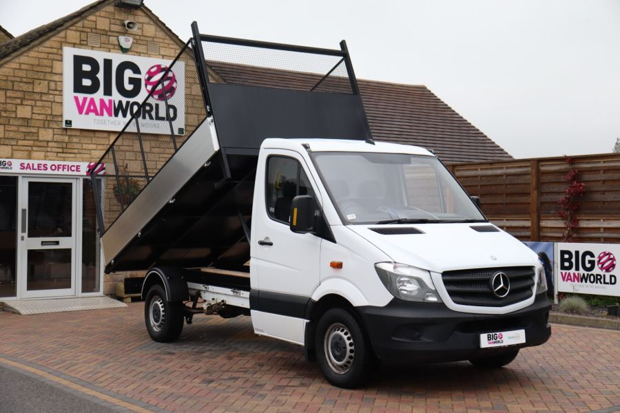 MERCEDES SPRINTER 313 CDI 129 MWB SINGLE CAB NEW BUILD ALLOY CAGED TIPPER - 9685 - 12