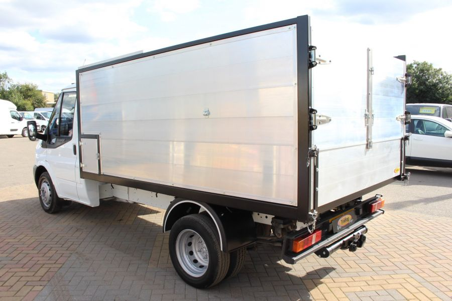 FORD TRANSIT 350 MWB SINGLE CAB HIGH SIDED ARBORIST ALLOY TIPPER - 6153 - 5