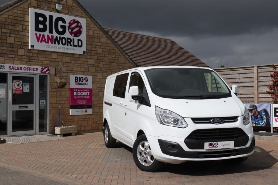 FORD TRANSIT CUSTOM 310 TDCI 130 L2H1 LIMITED DOUBLE CAB 6 SEAT CREW VAN LWB LOW ROOF FWD  (13819) - 12104 - 6