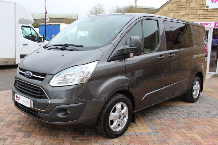 FORD TRANSIT CUSTOM 290 TDCI 125 L1 H1 LIMITED DOUBLE CAB 6 SEAT CREW VAN SWB LOW ROOF FWD - 7542 - 8