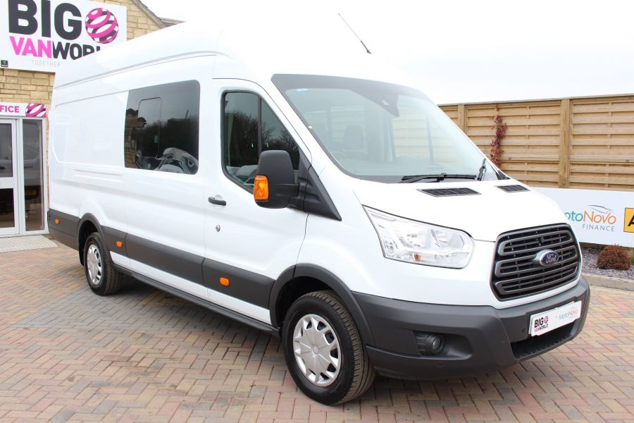 FORD TRANSIT 350 TDCI 155 L4 H3 TREND DOUBLE CAB 7 SEAT CREW VAN JUMBO HIGH ROOF  - 7472 - 1