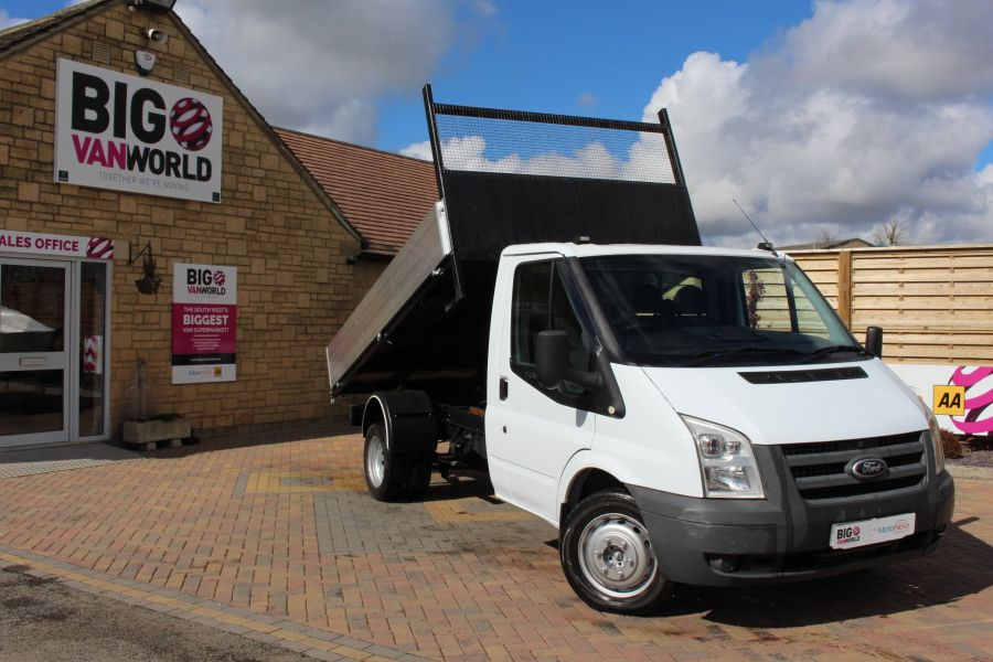 FORD TRANSIT 350 TDCI 100 MWB SINGLE CAB ALLOY TIPPER - 7589 - 1