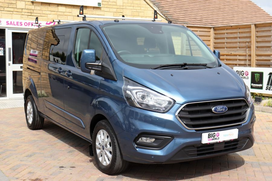 FORD TRANSIT CUSTOM 320 TDCI 130 L2 H1 LIMITED DOUBLE CAB 6 SEAT CREW VAN LWB LOW ROOF FWD - 9606 - 3