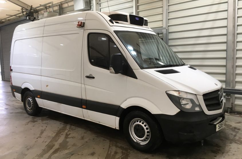 MERCEDES SPRINTER 313 CDI 129 MWB HIGH ROOF FRIDGE/FREEZER VAN WITH OVERNIGHT - 11238 - 1