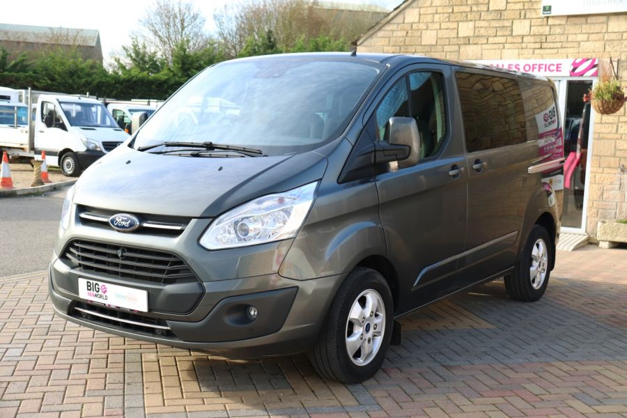 FORD TRANSIT CUSTOM 290 TDCI 130 L1H1 LIMITED DOUBLE CAB 6 SEAT CREW VAN SWB LOW ROOF - 10123 - 9
