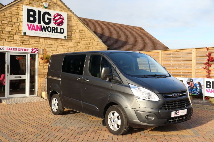 FORD TRANSIT CUSTOM 290 TDCI 130 L1H1 LIMITED DOUBLE CAB 6 SEAT CREW VAN SWB LOW ROOF - 10123 - 2