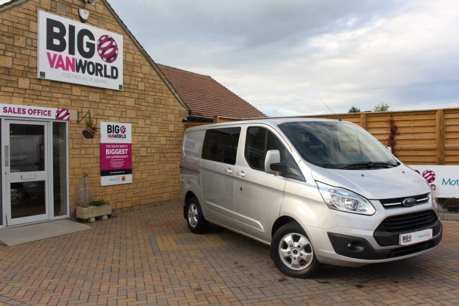FORD TRANSIT CUSTOM 290 TDCI 125 L1 H1 LIMITED DOUBLE CAB 6 SEAT CREW VAN SWB LOW ROOF FWD - 6791 - 1