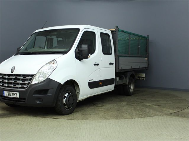 RENAULT MASTER ML35 DCI 100 MWB 7 SEAT DOUBLE CAB ALLOY CAGED TIPPER DRW RWD - 7335 - 5