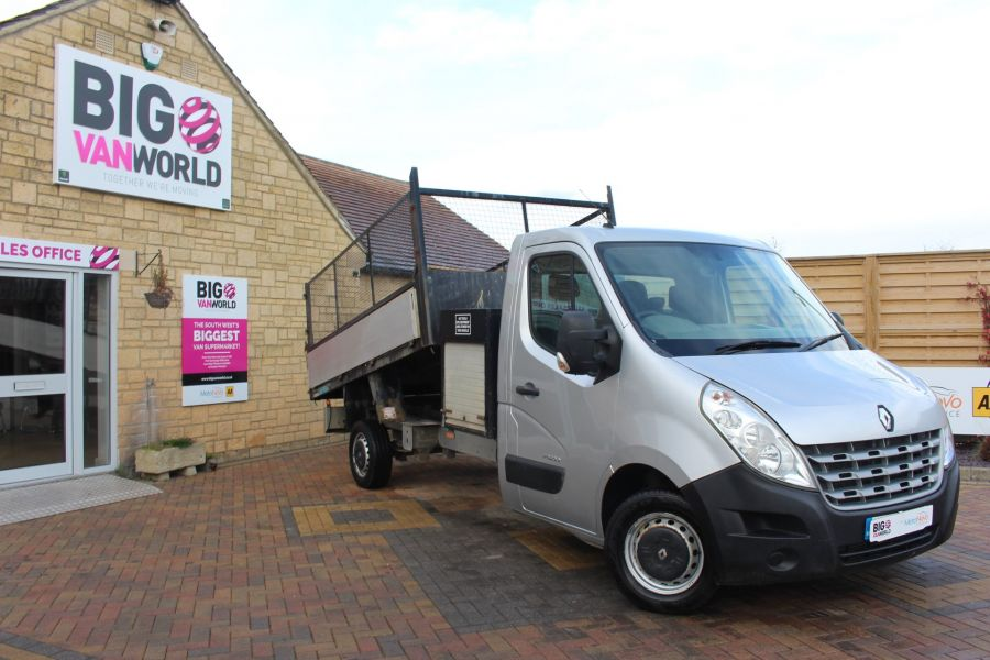 RENAULT MASTER LL35 DCI 125 LWB CAGED ALLOY TIPPER WITH SEPERATE TOOLBOX - 7124 - 1